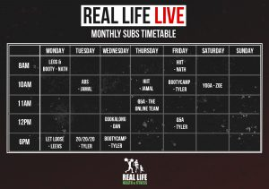 Live Monthly Subs Time Table