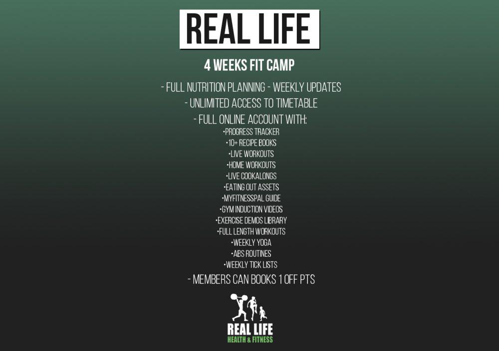 4 Weeks Fit camp